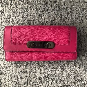 Coach Large Pink Wallet